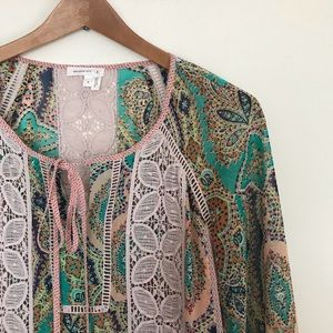 Meadow Rue Giada Peasant Blouse from Anthropologie